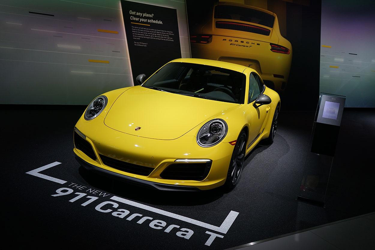 new porsche 911 carrera t introduced at the la auto show porsche club of america. Black Bedroom Furniture Sets. Home Design Ideas