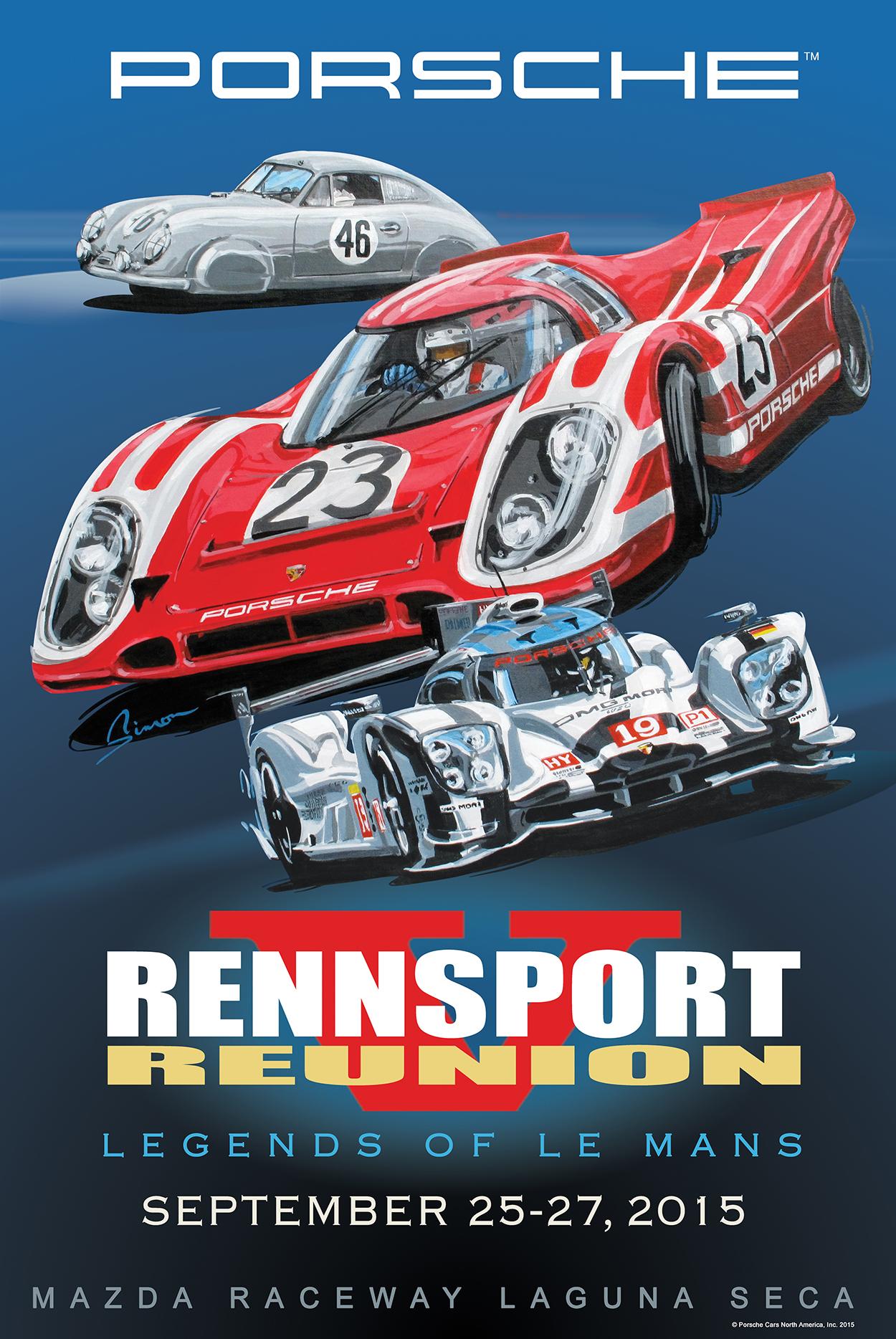 Official Porsche Rennsport Reunion V poster unveiled ...