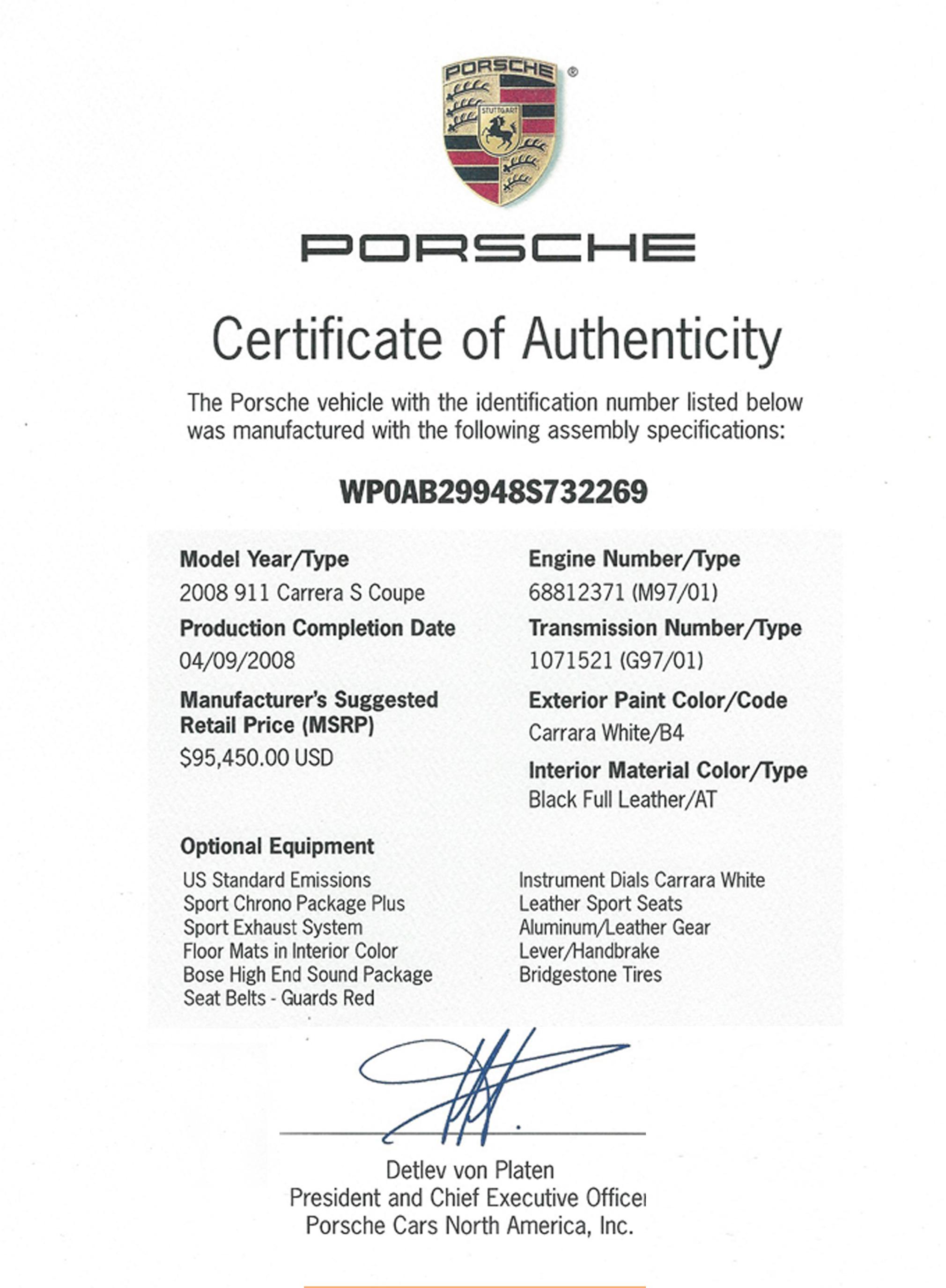 2008 911 Carrera S | Porsche Club of America