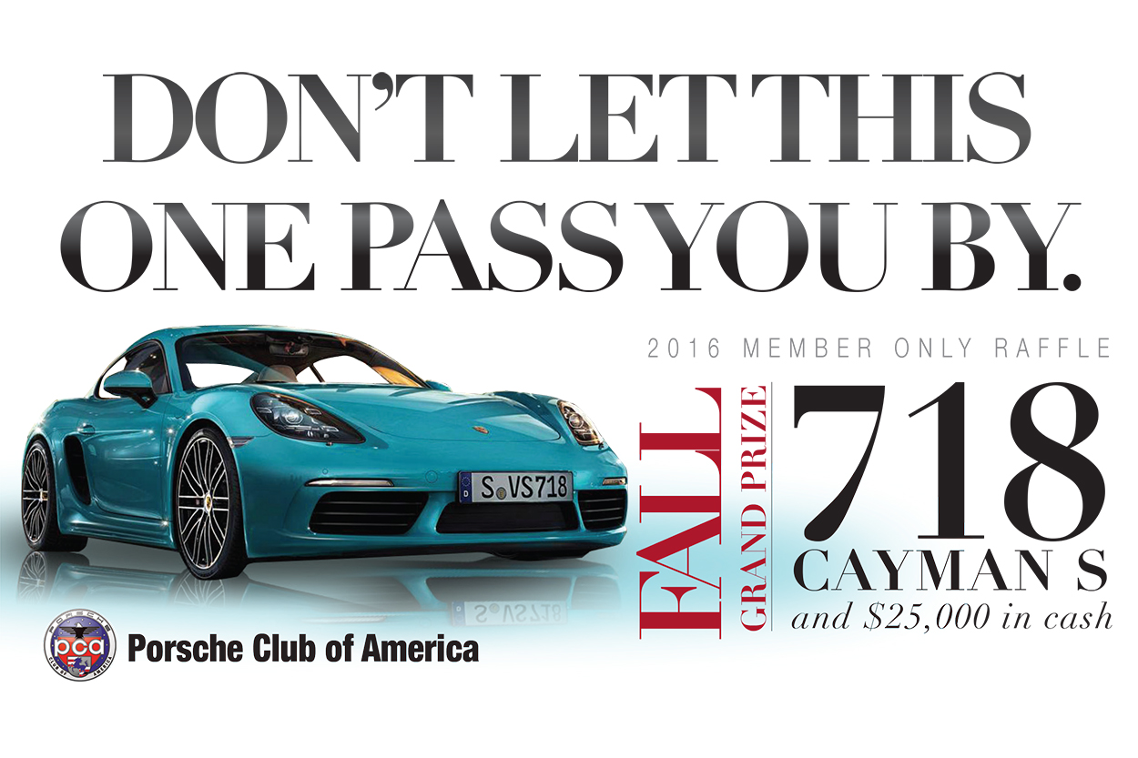 Enter Fall Raffle For Chance To Win A Porsche 718 Cayman S Three Cars Will Be Raffled