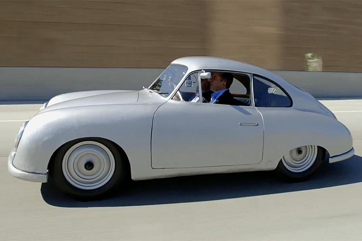 leno and seinfeld get coffee in 1949 porsche gm nd coupe. Black Bedroom Furniture Sets. Home Design Ideas