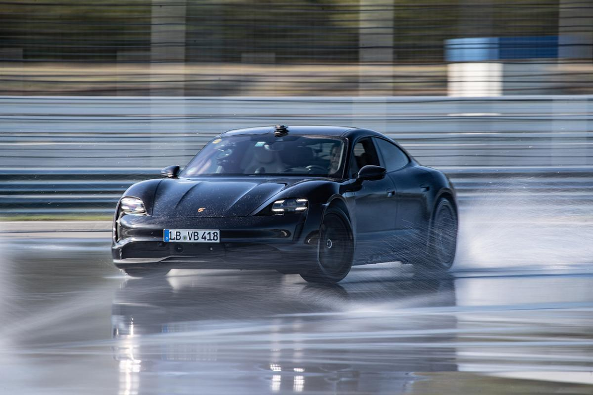 Porsche takes EV drift record with rear-drive Taycan [w/video]