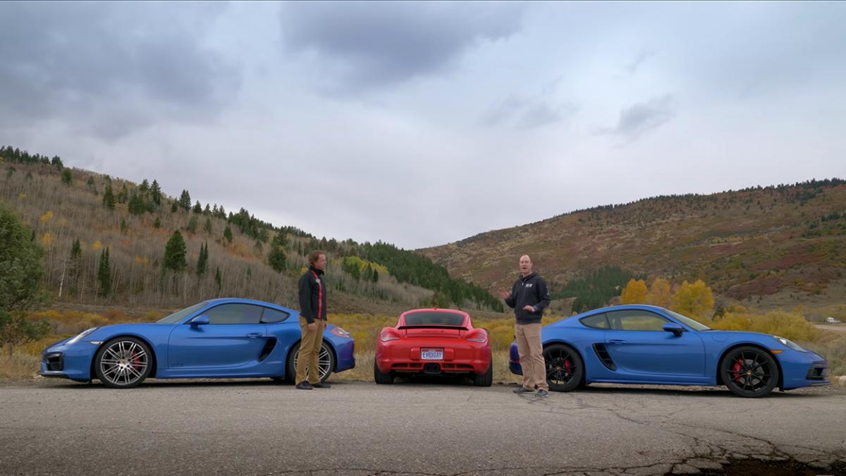 Video: Which generation of Porsche Cayman is best: 987 vs. 987 vs. 982/718