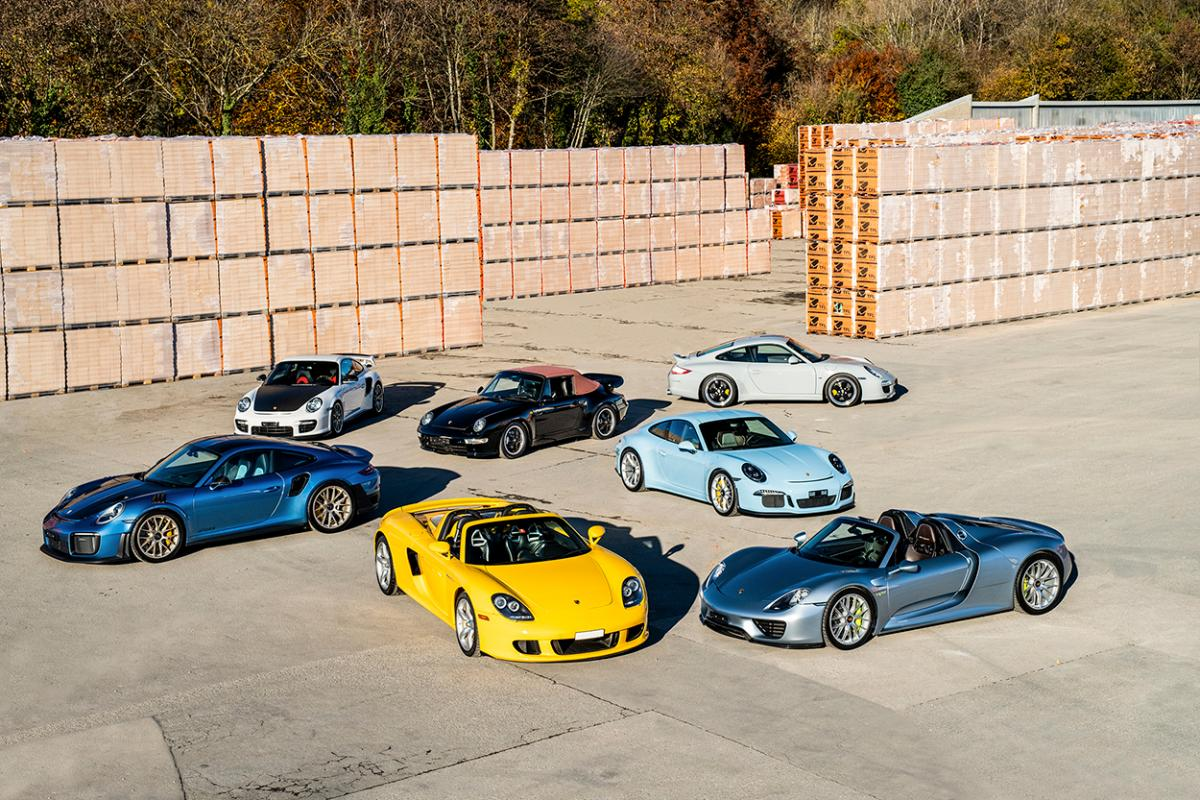 Swiss collector auctioning seven rare Porsches — including one in PCA's 50th-anniversary Club Coupe color