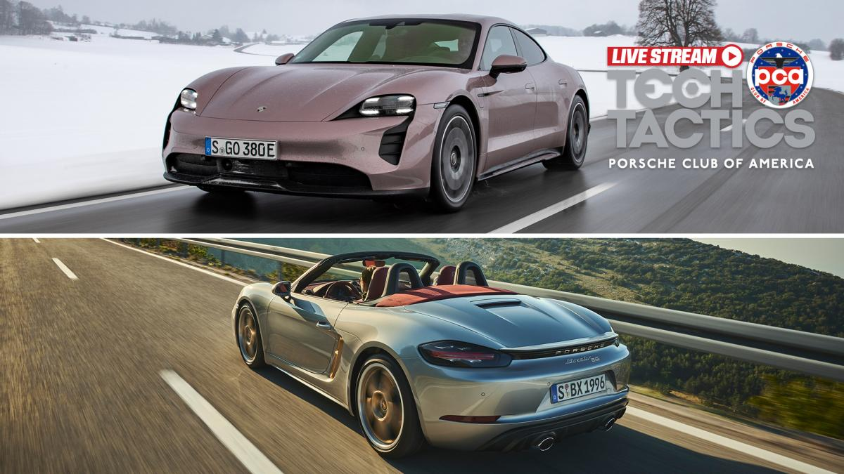 Tech Tactics LIVE: Meet the new Porsche 718 Boxster 25 Years and rear-drive Taycan
