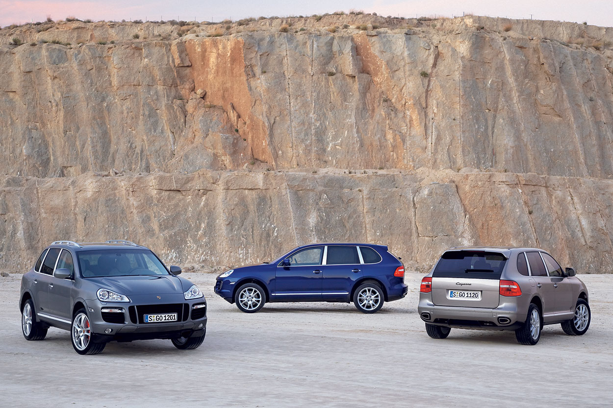 From Left Post Facelift Cayenne Turbo S And